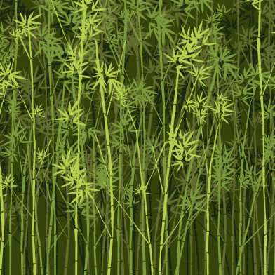 Bamboo Forest : Dark Green