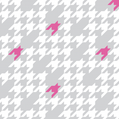 Houndstooth : Pink