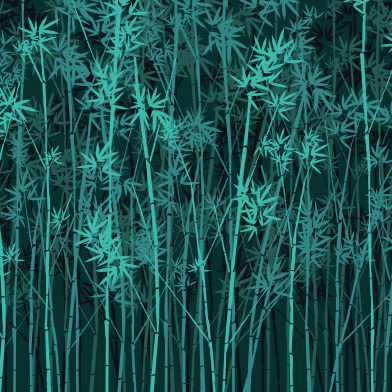 Bamboo Forest : Teal
