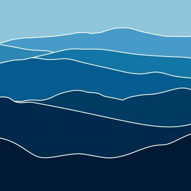 Les Montagnes : Blue Contour