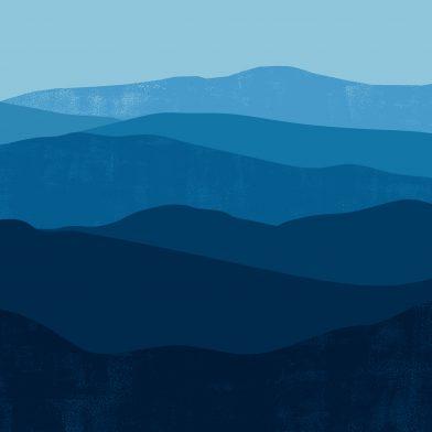 Les Montagnes : Blue