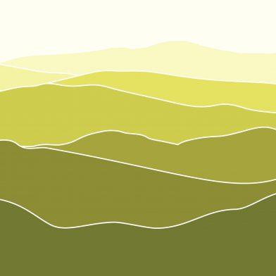 Les Montagnes : Lime Contour