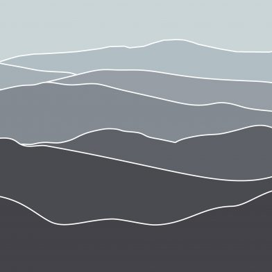 Les Montagnes : Grey Contour